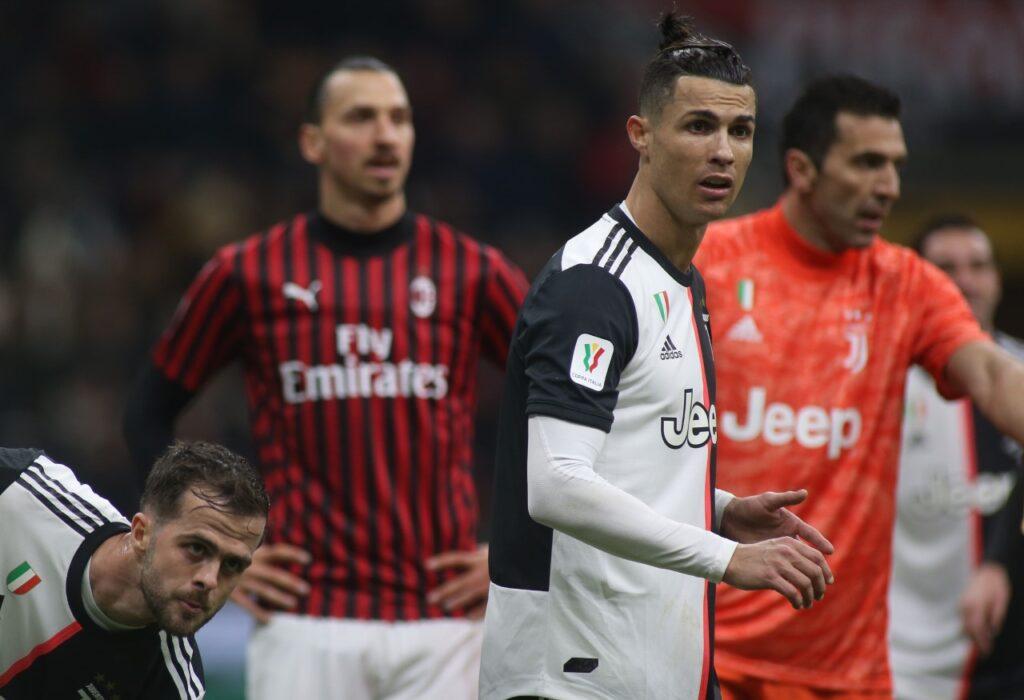 Milan: Cristiano Ronaldo e Zlatan Ibrahimovic - Milanpress, robe dell'altro diavolo