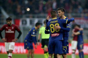 Lazovic Kumbulla Hellas Verona MilanPress