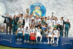Nacho alza al cielo di Kiev la Champions League 2018 - Milanpress, robe dell'altro diavolo