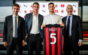 Milan: Diogo Dalot, Paolo Maldini, Ivan Gazidis e Frederic Massara - MilanPress, robe dell'altro diavolo