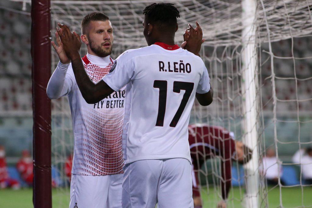 Milan: Ante Rebic e Rafael Leao (Photo Credit: Agenzia Fotogramma)Non