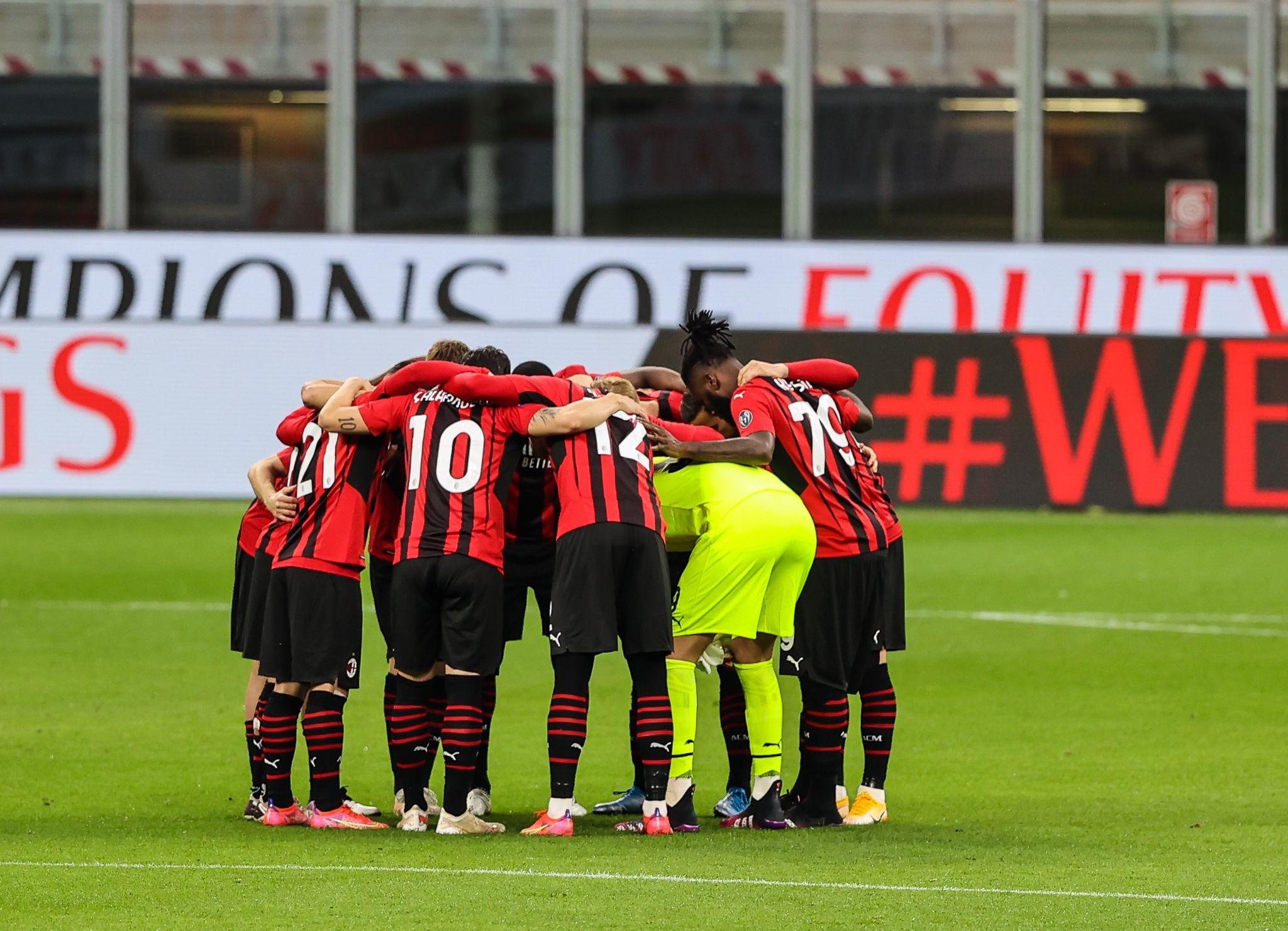 La squadra del Milan (Photo Credit: Agenzia Fotogramma)