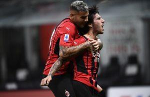 Milan: Theo Hernandez e Sandro Tonali (Photo Credit: Agenzia Fotogramma)
