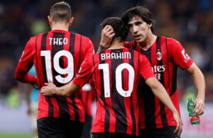 Milan: Theo Hernandez, Brahim Diaz e Sandro Tonali (Photo Credit: Agenzia Fotogramma)