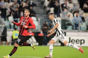 Juventus-Milan: Theo Hernandez e Alvaro Morata (Photo Credit: Agenzia Fotogramma)