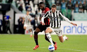 Juventus-Milan: Fikayo Tomori e Adrien Rabiot (Photo Credit: Agenzia Fotogramma)